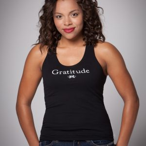 Women's Gratitude Racer Back Tank Top