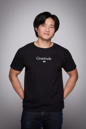 Man wearing Gratitude Short Sleeve Tee