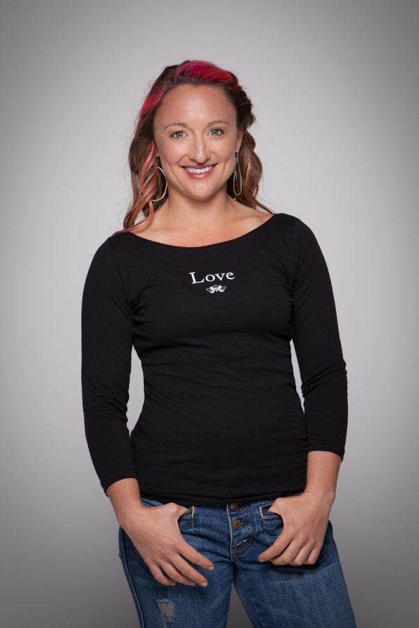 Women's Love Boat Neck Shirt