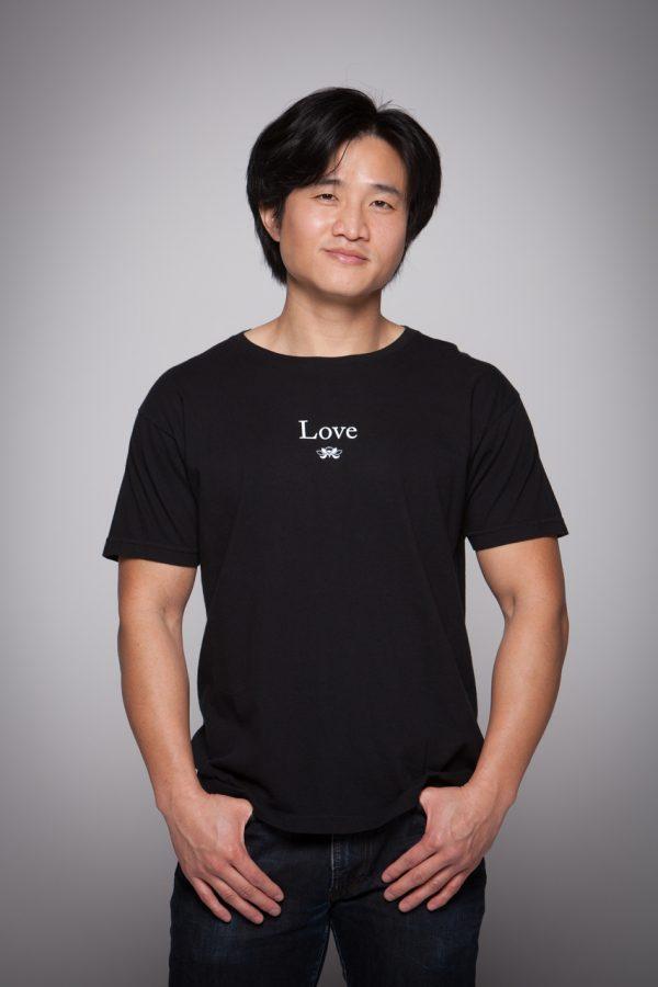 Man wearing Love Short Sleeve Tee