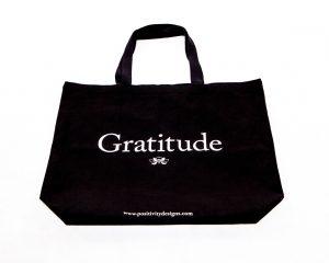 Gratitude Canvas Tote
