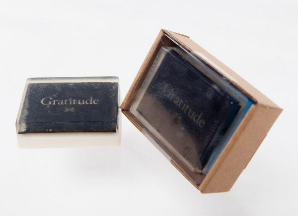 Gratitude Soap in box and out of box
